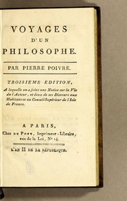 Cover of: Voyages d'un philosophe