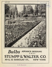 Cover of: Bulbs | Stumpp & Walter Co. (New York, N.Y.)