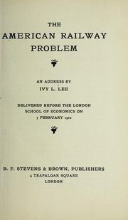 Cover of: The American railway problem