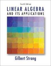 Cover of: Linear algebra and its applications | Gilbert Strang