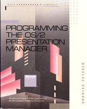 Cover of: Programming the OS/2 Presentation Manager