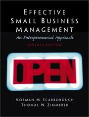 Effective small business management by Norman M. Scarborough, Thomas W. Zimmerer, Doug Wilson