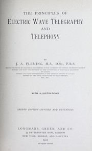 Cover of: The principles of electric wave telegraphy
