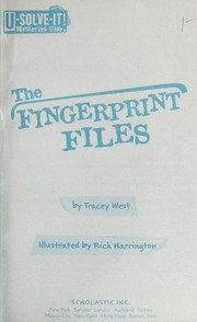 Cover of: The fingerprint files