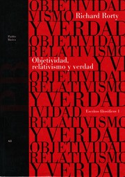 Cover of: Objetividad, Relativismo Y Verdad by Richard Rorty