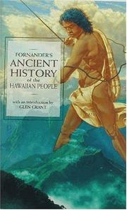 Cover of: Ancient History of the Hawaiian People to the Times of Kamehameha I