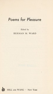 Cover of: Poems for pleasure. by Herman Matthew Ward