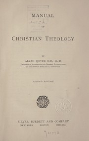 Cover of: Manual of Christian theology