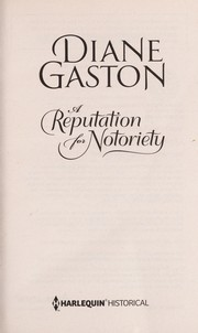 Cover of: A reputation for notoriety | Diane Gaston