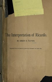 Cover of: The interpretation of Ricardo