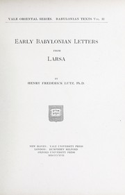 Cover of: Early Babylonian letters from Larsa