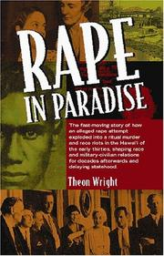 Cover of: Rape In Paradise by Theon Wright