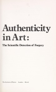 Cover of: Authenticity in art