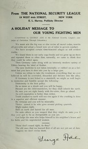 Cover of: A holiday message to our young fighting men