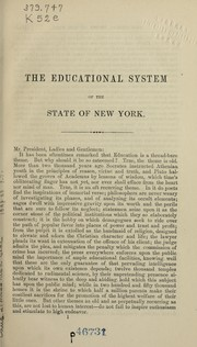 Cover of: The educational system of the state of New York