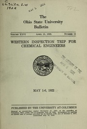 Cover of: Western inspection trip for chemical engineers