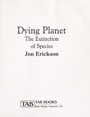 Cover of: Dying planet