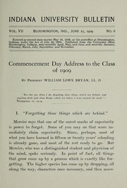 Cover of: President Byran's commencement address