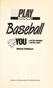 Cover of: Play book