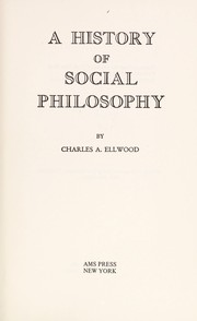 Cover of: A history of social philosophy