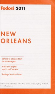 Cover of: Fodor's 2011 New Orleans