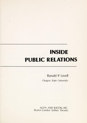 Cover of: Inside public relations