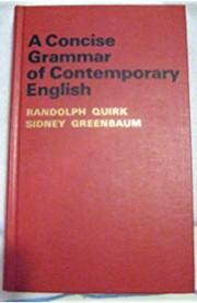 Cover of: A grammar of contemporary english by