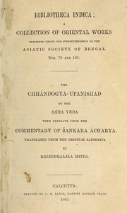 Cover of: The Chhándogya-Upanishad of the Sama Veda