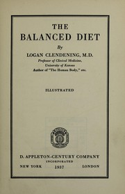 Cover of: The balanced diet