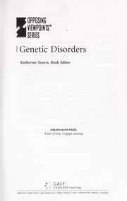 Cover of: Genetic disorders |