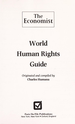 World human rights guide by Charles Humana