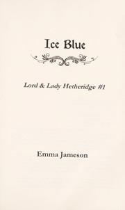 Cover of: Ice blue | Emma Jameson