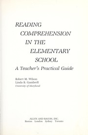 Cover of: Reading comprehension in the elementary school