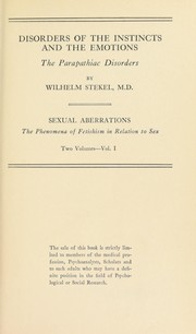 Cover of: Sexual aberrations; the phenomena of fetishism in relation to sex
