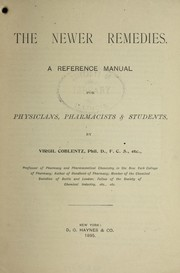 Cover of: The newer remedies