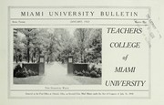 Cover of: Teachers College of Miami University