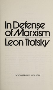 Cover of: In defense of Marxism | Leon Trotsky
