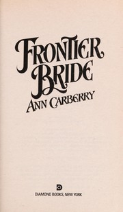 Cover of: Frontier Bride | Ann Carberry