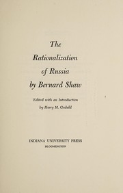 Cover of: The rationalization of Russia