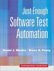 Cover of: Just Enough Software Test Automation | Daniel J. Mosley