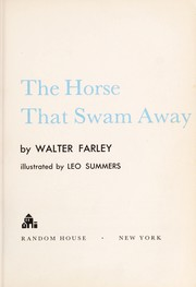 Cover of: The horse that swam away