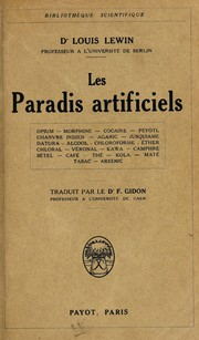 "Cover of: Les ""Paradis artificiels"""