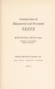 Cover of: Construction of educational and personnel tests