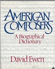 Cover of: American composers: a biographical dictionary