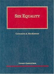 Cover of: Sex Equality