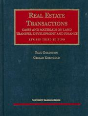 Cover of: Real estate transactions