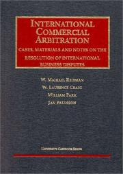 Cover of: International Commercial Arbitration | W. Michael Reisman