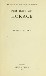 Cover of: Portrait of Horace