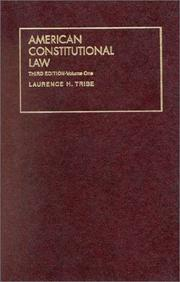 Cover of: American constitutional law