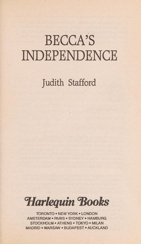 Becca's Independence by Stafford